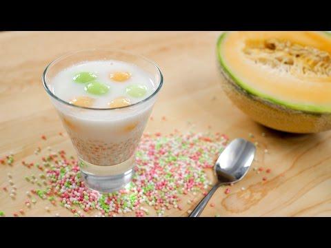 Tapioca Melon Dessert Soup Recipe สาคูแคนตาลูป - Hot Thai Kitchen