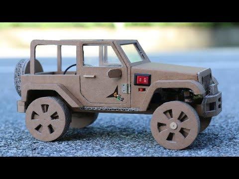 How To Make RC Car(Jeep Wrangler) Amazing Cardboard Car DIY