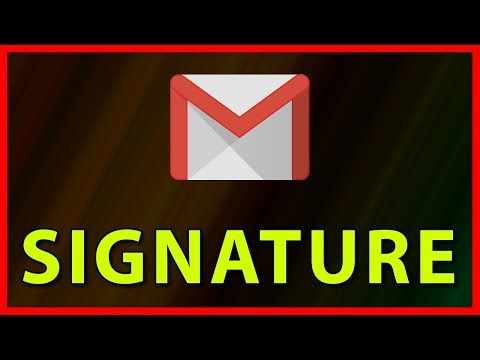 How to add a Signature to a Gmail Email account - Tutorial