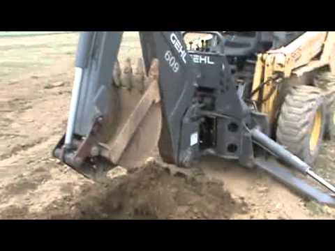 Bradco 609 Gehl Skid Steer Backhoe Attachment For Skid Steer Loader For Sale
