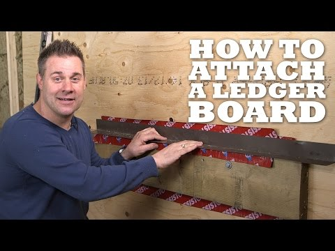 How to Attach a Ledger Board for a Deck