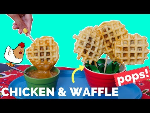 Chicken and Waffles ON A STICK! - La Cooquette Food
