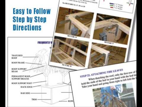 tiki bar plans - how to build a tiki bar in 3 days!