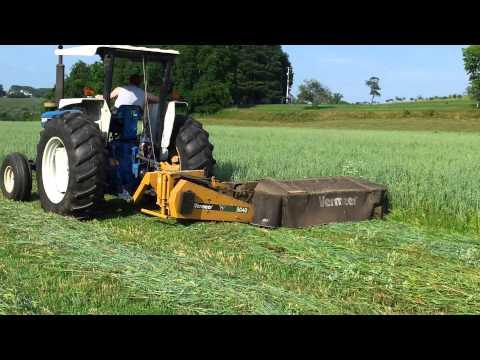 Ford 6610 mowing hay with Vermeer 5040 disc mower
