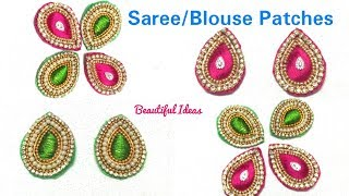 DIY/How to Make Silk thread Designer Saree/ Blouse Patches/Designer Blouse Patch work Making at Home