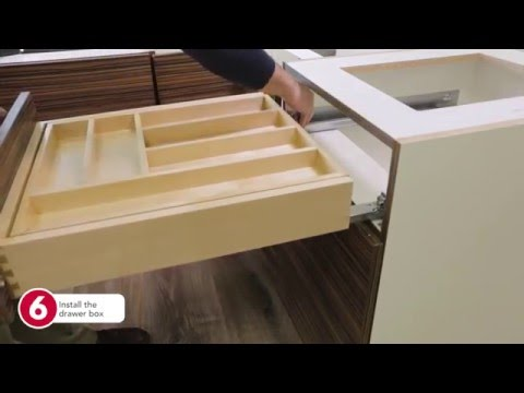 Rev-A-Shelf- How to Install the Tiered Cutlery Drawer Organizer in a Frameless Cabinetry