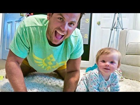 TEACHING BABY TO CRAWL!