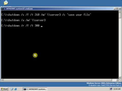 How to Remote Shutdown a computer using command.FLV