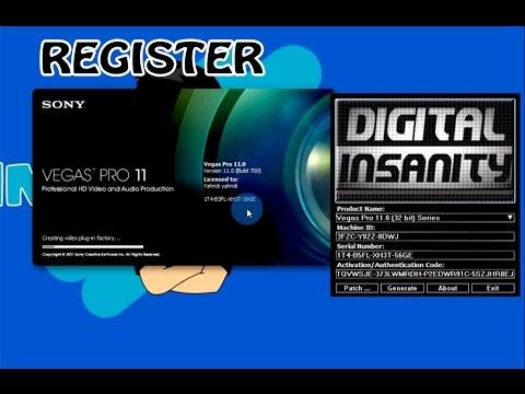 Register Sony Vegas Pro 11