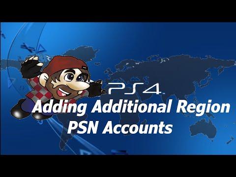 PS4 Adding Additional Region PSN Accounts
