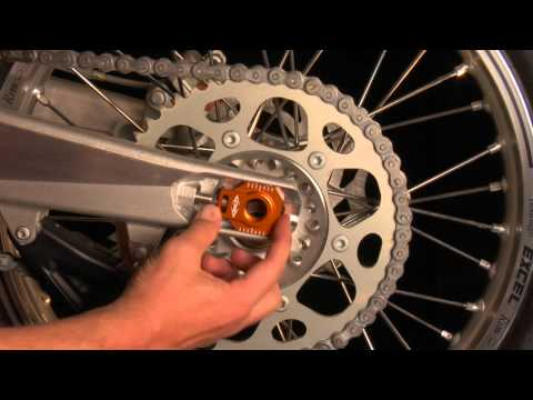 How to install Bolt's Chain Adjuster Blocks on a KTM