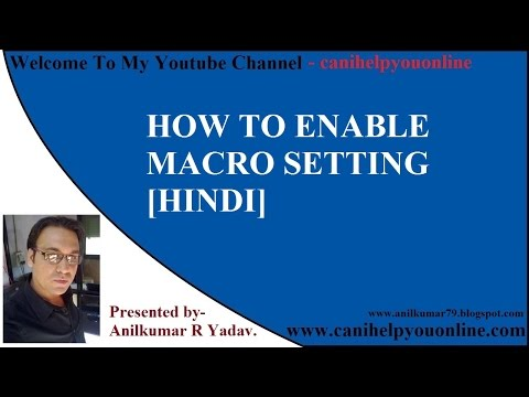 Ms Office 2010/HOW TO ENABLE MACRO SETTING [HINDI]