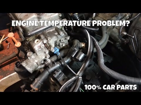 How to Change Replace Engine Temperature Sensor Peugeot 206