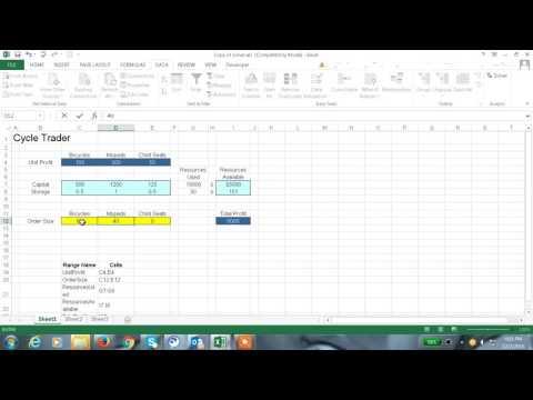 Excel 2013 Tutorial#47 solver Function in Excel 2013