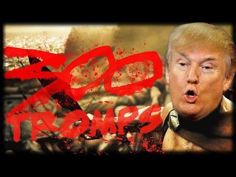 Reacting to 300 Trump Making America Great Again Parody | Garry's Mod