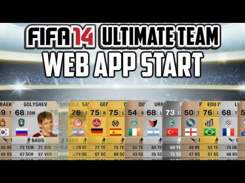 FIFA 14 Ultimate Team ''Web App Start! - Pack Opening''