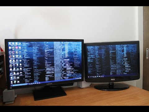 How to set up dual monitors for windows 10