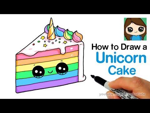 Xxx Mp4 How To Draw A Unicorn Rainbow Cake Slice Easy And Cute 3gp Sex