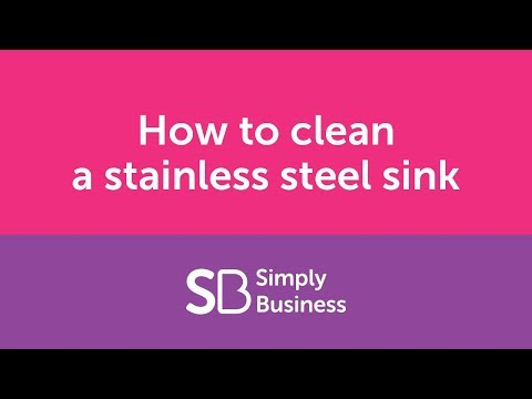How to clean a stainless steel sink - landlord kitchen cleaning tips