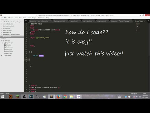 Tutorial|How to code your own website useing html/css|make your own webpage!!!