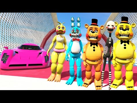 TOY ANIMATRONICS STUNT OFF WORLD'S BIGGEST RAMP EVER! (GTA 5 Mods FNAF Funny Moments)