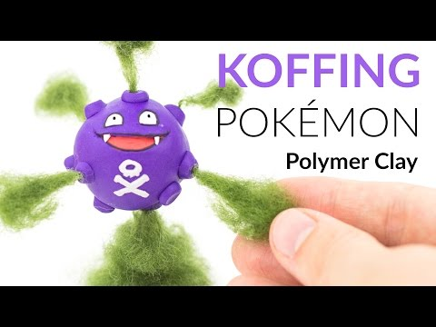 Koffing Pokemon – Polymer Clay Tutorial