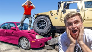 DESTROYING MY FRIENDS CAR AND BUYING HIM THE EXACT SAME CAR!!