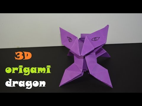 How to make a DRAGON 3D by paper | ORIGAMI