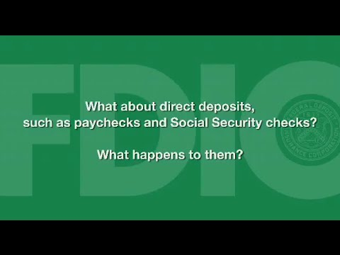 What about direct deposits, such as paychecks and Social Security checks?