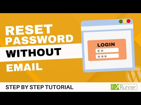 WordPress Lost Admin Password and No Email Retrieval