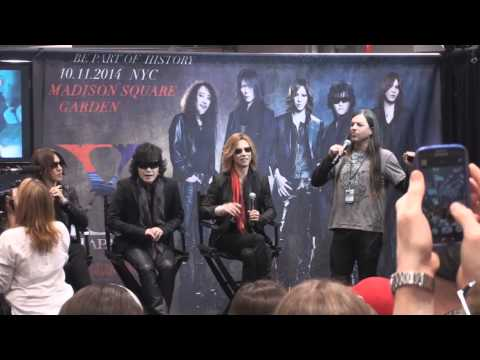Yoshiki and X Japan appeared at New York Comic Con 2014