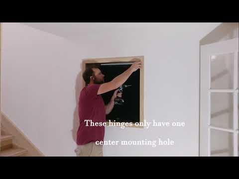 Cabinet hinge installation