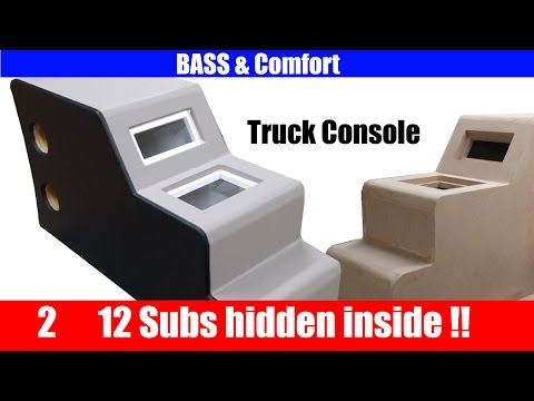 How to build a center console for your car or truck (Hidden Subwoofers)