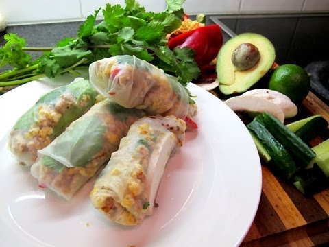 'Cooking with Ash!' - Rice Paper Rolls