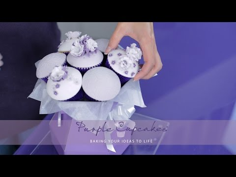 The Cupcake Bouquet Box - Cupcakes and Flowers in one!
