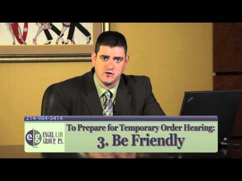 Preparing for a Temporary Order Hearing in Texas - Dallas Attorney Eric Engel
