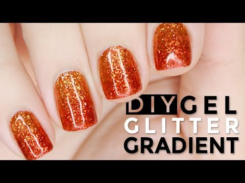 HOW TO DIY Glitter Gradient Gel Nails with Loose Glitter LIKE A PRO!