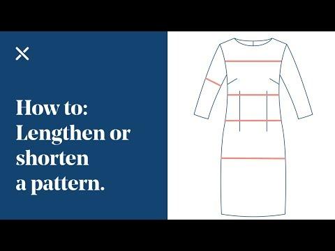How To: Lengthen & Shorten a Dressmaking Pattern