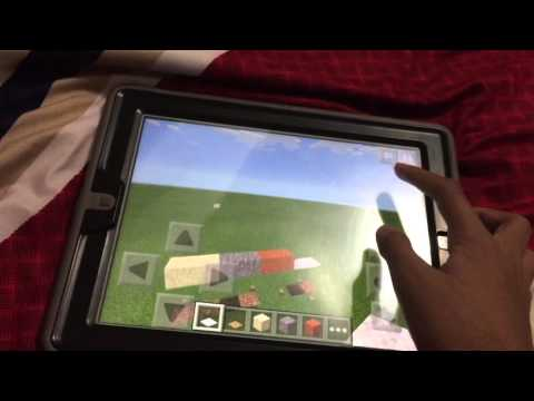 How to make floating sand, red sand, gravel, and carpet in mcpe.