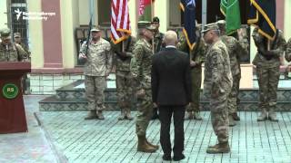 U.S. General Nicholson Assumes Command Of Forces In Afghanistan