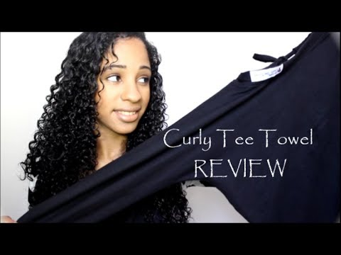 CURLY HAIR STYLING TIP: Dry your Hair w/ The Curly Tee Towel ~ REVIEW