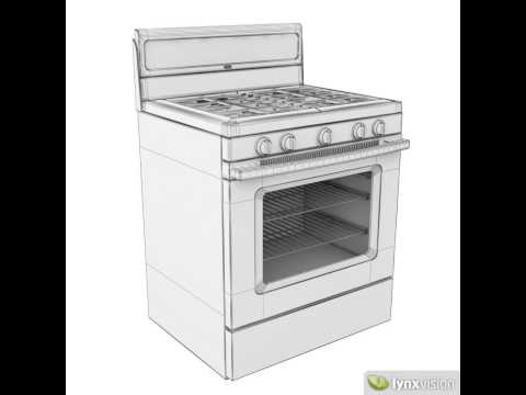Whirlpool Gas Cooker 3D model from CGTrader.com