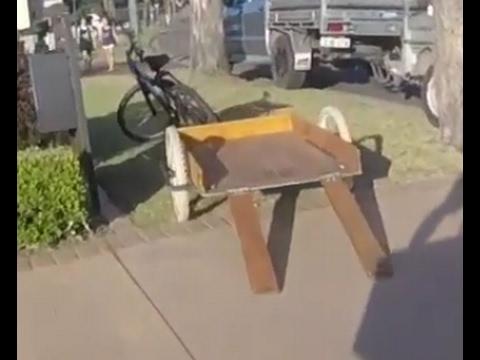 DIY plywood bike trailer