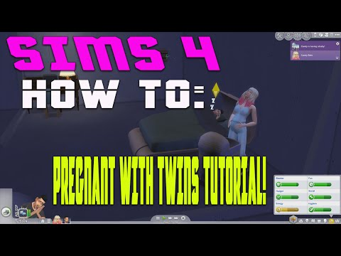Sims 4 - How To Get Pregnant & Have Twins!