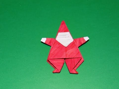 How To Make An Origami Santa Claus