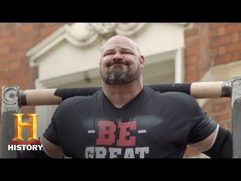 The Strongest Man in History: Barrel Lift Challenge (Season 1) | History