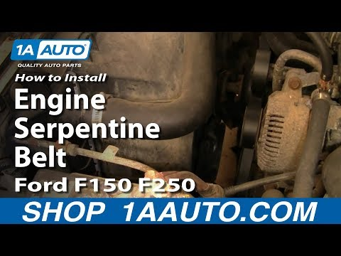How To Install Replace Engine Serpentine Belt Ford F150 F250 5.0L 92-96 1AAuto.com