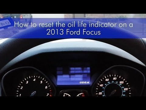 Reset the oil change light in a 2013 Ford Focus