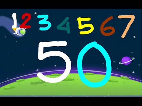 Write Numbers 1 to 50 with PicArt for Kid | Children Learing Game