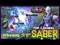 S.a.b.e.r Regulator Triple Sweep Perfect Target Winneяʑ  荣誉° Top 3 Global Saber ~ Mobile Legends mp3